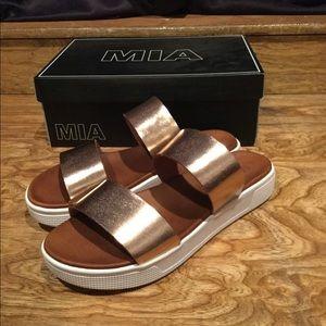 MIA rose gold sandals sz 10